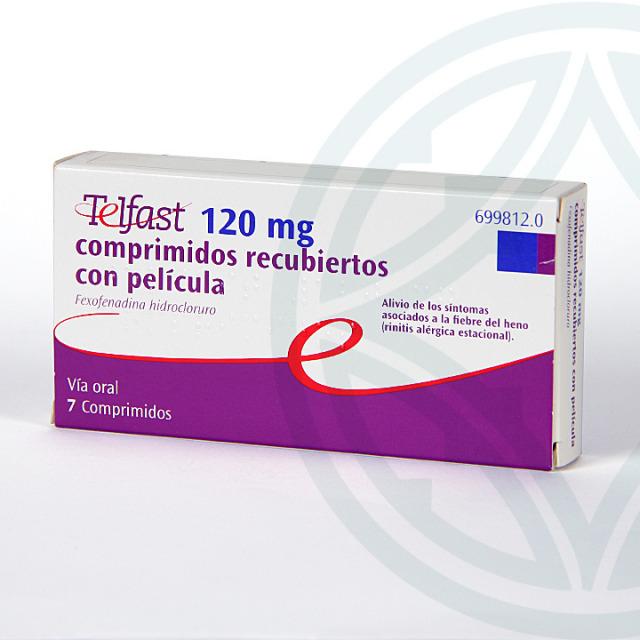 Telfast 120 mg 7 comprimidos