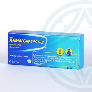 Termalgin 500 mg 20 comprimidos