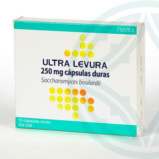 Ultra-Levura 250 mg 10 cápsulas