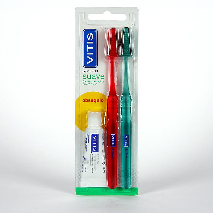 Vitis Cepillo dental suave Duplo