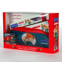 Vitis Junior Pack Cepillo dental + Gel dentífrico + Neceser de Regalo