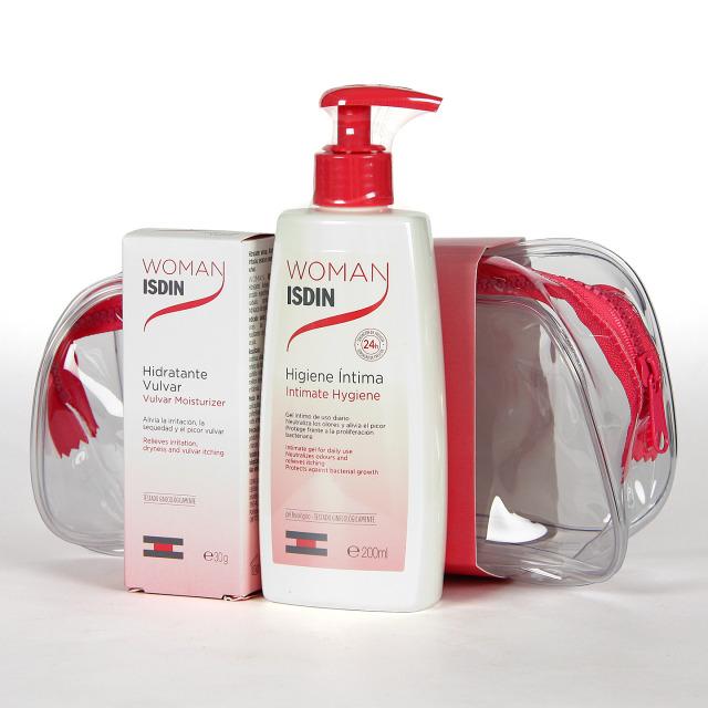 Woman Isdin Hidratante Vulvar + Higiene Íntima Pack Neceser