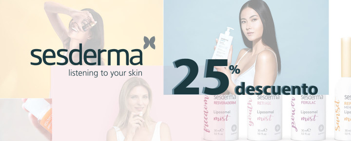 Promoción: Descuento - 25% de descuento en todos nuestros productos Sesderma