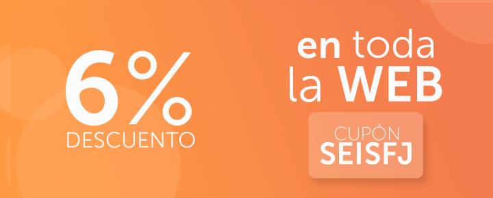 Promoción: 6% Descuento en toda la web