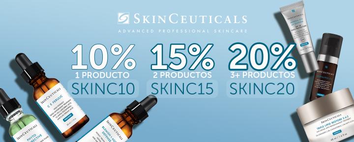 Promoción: Descuento | 10, 15, 20% en SkinCeuticals por la compra de 1, 2 y 3 o más productos