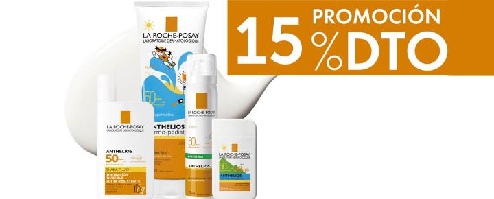 Promoción: Descuento - 15% de descuento en La Roche Posay Anthelios
