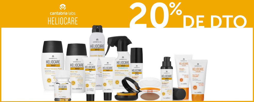 Descuento | 20% de Descuento en Heliocare por la compra de 2 o más productos