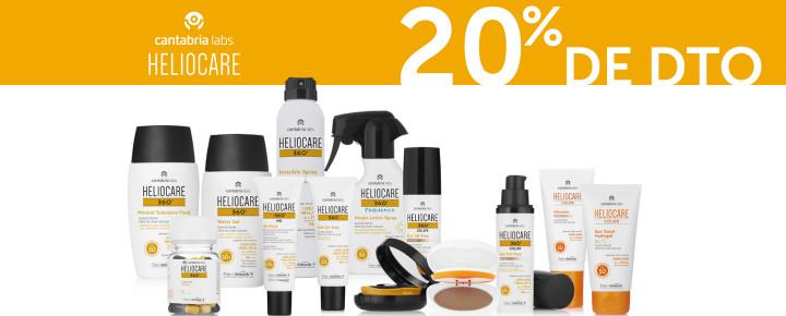 Promoción: Descuento | 20% de Descuento en Heliocare por la compra de 2 o más productos