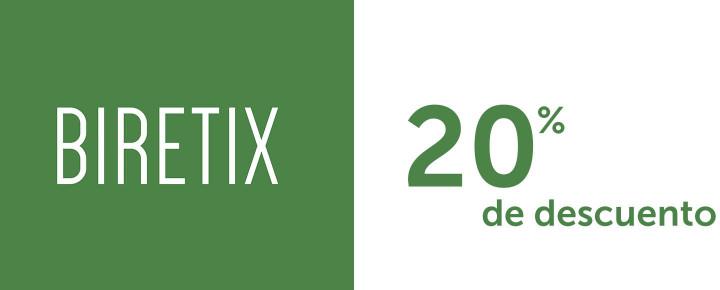 Promoción: Descuento - 20% de descuento por la compra de 2 unidades de Biretix
