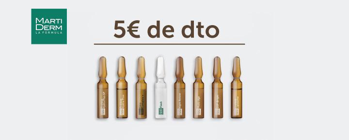 Promoción: Descuento - 5€ de descuento en todas las ampollas de Martiderm