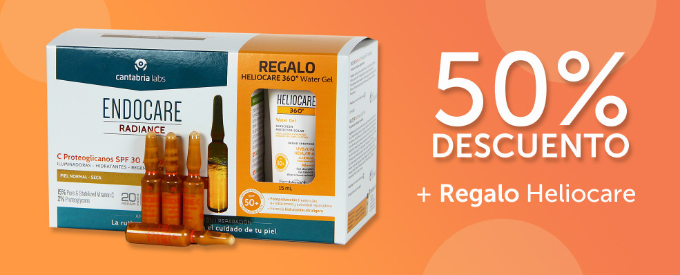 ENDOCARE | -50% en Ampollas C Proteoglicanos SPF30 + Regalo