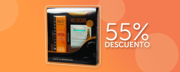 Promoción: Descuento | 55%DTO en Pack Heliocare 360 Gel Oil Free Bronze