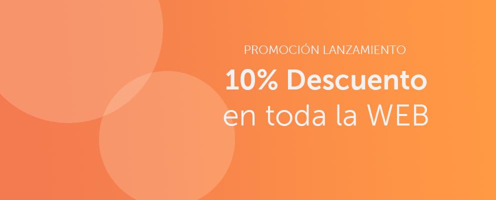 Promoción: PROMOCIÓN LANZAMIENTO: 10% Descuento en toda la web