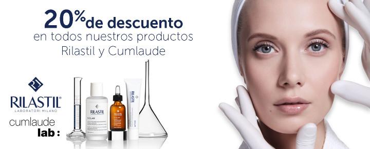 Promoción: Rilastil y Cumlaude   20% de descuento en todos nuestros productos