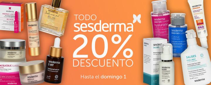 Promoción: Sesderma | 20% de Descuento en TODO hasta el domingo