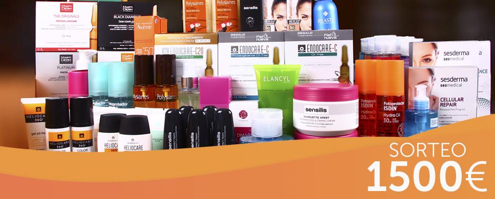 Promoción: ¡SUPER SORTEO! ¡Te regalamos 1500€ en productos de cosmética para tu piel!